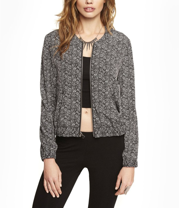Express Printed Soft Bomber Jacket