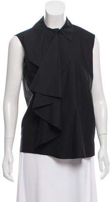 MM6 MAISON MARGIELA Ruffle Sleeveless Top