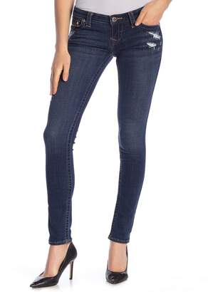 True Religion Stella Distressed Rhinestone Skinny Jeans