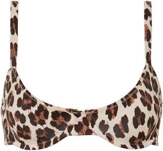 Caroline Constas Mer Mykela Leopard Bikini Top