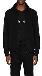 Fendi Men's Logo Cotton-Blend Track Jacket - Black