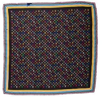 Louis Vuitton Multicolor Monogram Silk Scarf
