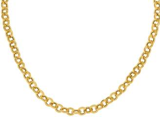 14K Yellow Gold Rolo Link Necklace, 14.5g
