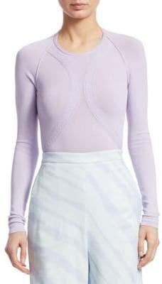 Roberto Cavalli Long Sleeve Knit Bodysuit