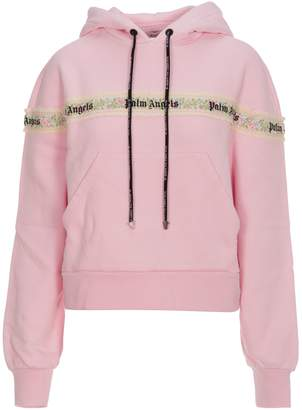 Palm Angels Flower Tape Hoody Pink Multicolor