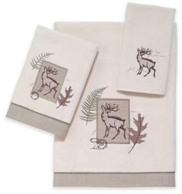Deer Lodge Bath Towel in Ivory