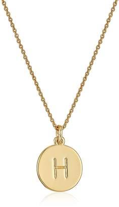 "Kate Spade new york Pendants H Pendant Necklace, 17"" + 3.5"" Extender"
