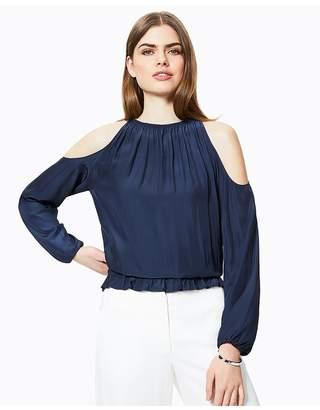 79d846476e3e85 Ramy Brook Black Cold Shoulder Women s Tops - ShopStyle
