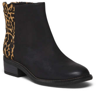 Suede And Haircalf Upper Ankle Boots