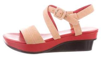 Stephane Kelian Suede Crossover Sandals