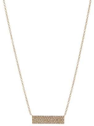 Ron Hami 14K Yellow Gold Pave Diamond ID Pendant Necklace - 0.25 ctw