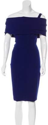 Oscar de la Renta Wool Cowl Neck Dress w/ Tags