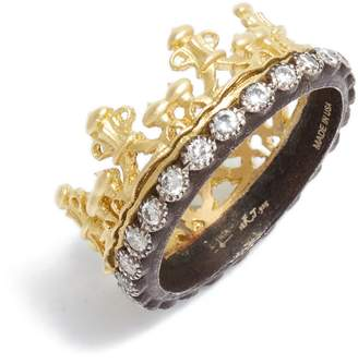 Armenta Old World Diamond Crown Ring