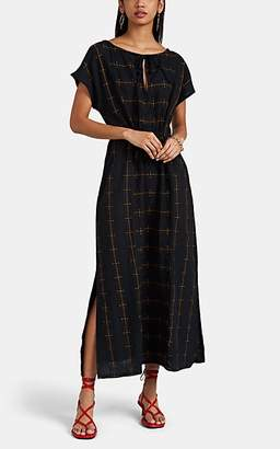 Ace&Jig Women's Isla Checked Cotton Midi-Dress - Black