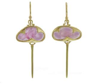 Rachel Atherley Ruby Stingray Earrings - Yellow Gold