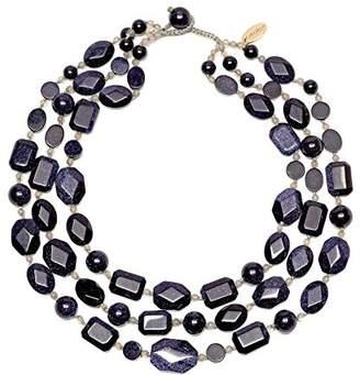 Lola Rose Jenny Blue Sandstone and Grey Agate Necklace of Length 45.5cm
