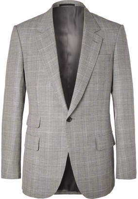 Kingsman - Eggsy's Grey Prince of Wales Checked Wool and Linen-Blend Suit Jacket