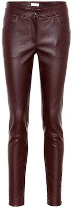 Brunello Cucinelli Leather skinny pants