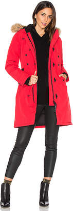 Canada Goose Kensington Parka with Coyote Fur Trim in Red $895 thestylecure.com