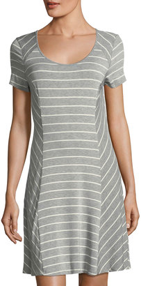 Kensie Scoop-Neck Short-Sleeve Striped Jersey Dress $49 thestylecure.com
