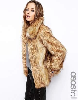 Asos Tall TALL Vintage Faux Fur Coat