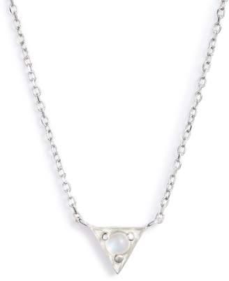Anzie Dainty Cleo Moonstone Pendant Necklace