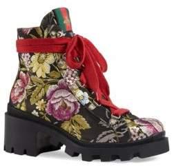 Gucci Trip Romantic Floral Jacquard Boots