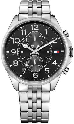 Tommy Hilfiger Men's Chronograph Casual Sport Stainless Bracelet Watch 46mm 1791276 $135 thestylecure.com
