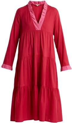 DAFT V-neck contrast dress
