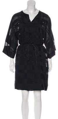 Paule Ka Long Sleeve Midi Dress