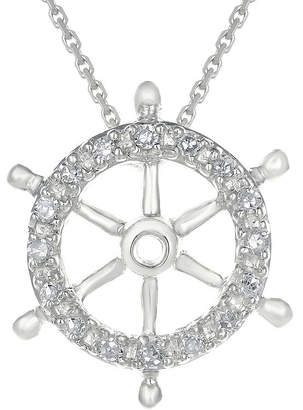 spring wheel shopstyle Denny Hamlin Shoes fine jewelry diamond accent 10k white gold ship wheel mini pendant necklace