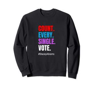 Abrams Count Every Single Vote Stacey Sweatshirt