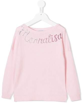MonnaLisa logo embellished jumper