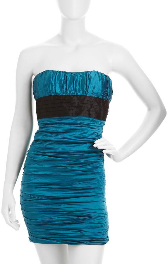 BCBGMAXAZRIA Strapless Ruched Dress