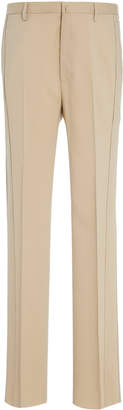 Lanvin Topstitched Wool-Blend Trousers