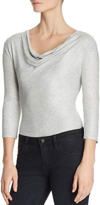 Majestic Filatures Metallic Cowl Neck Top