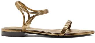 Saint Laurent Ourika & Talitha leather-trimmed sandals