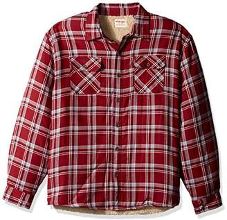 Wrangler Authentics Men's Big & Tall Long Sleeve Sherpa Lined Flannel Shirt Jacket