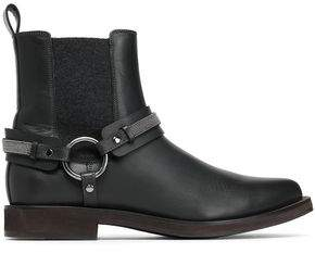 Brunello Cucinelli Bead-Embellished Ankle Boots