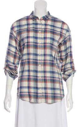 Closed Long Sleeve Button-Up Blouse