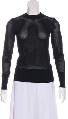 DKNY Open Knit Long Sleeve Top