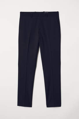 H&M Slim fit Wool-blend Pants - Blue
