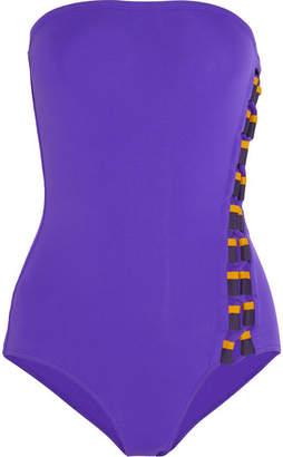 Eres Anne-sophie Bandeau Swimsuit - Purple
