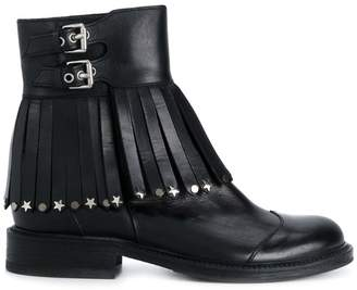 HTC Los Angeles embellished tassel buckle boots