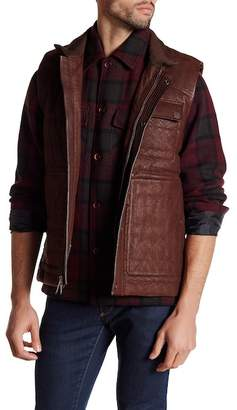 Robert Graham Genuine Lamb Leather Woven Vest