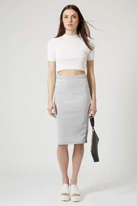 Topshop Pinstripe Midi Skirt