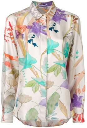 Agnona floral print shirt