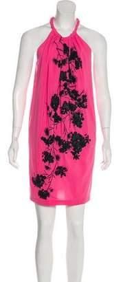 Robert Rodriguez Embellished Sleeveless Mini Dress