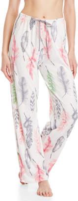 Hue Feather Print Lounge Pajama Pants