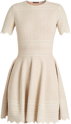 ALEXANDER MCQUEEN Lace-jacquard jersey dress $1,496 thestylecure.com